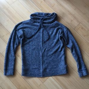 Old Navy Cowl neck heathered grey sweater top